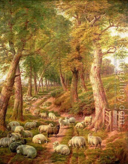 Landscape with Sheep by Charles Jones - Reproduction Oil Painting