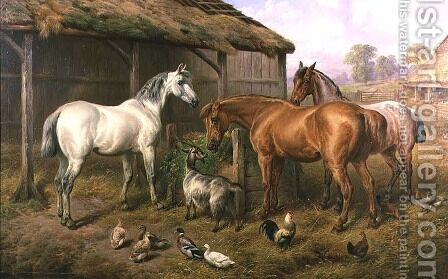 Farmyard Friends by Charles Jones - Reproduction Oil Painting