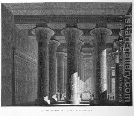 Perspective view of the portico interior by (after) Jollois and Devilliers - Reproduction Oil Painting