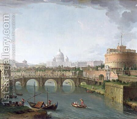 View of the Tiber by Antonio Joli - Reproduction Oil Painting