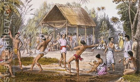 Maquarri dance of the Arawaks at Koraia by Harry Hamilton Johnston - Reproduction Oil Painting