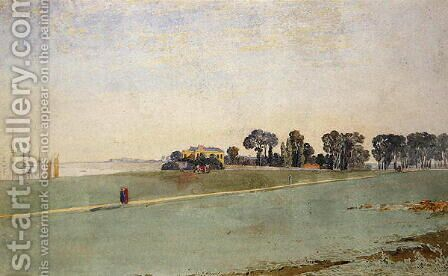 A View near the Mouth of the Avon near Bristol by James Johnson - Reproduction Oil Painting