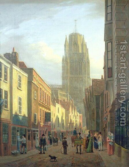 Redcliffe Street Bristol by James Johnson - Reproduction Oil Painting