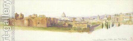 The Baths of Caracalla and St Peters from Porta Latina Rome by Harry John Johnson - Reproduction Oil Painting