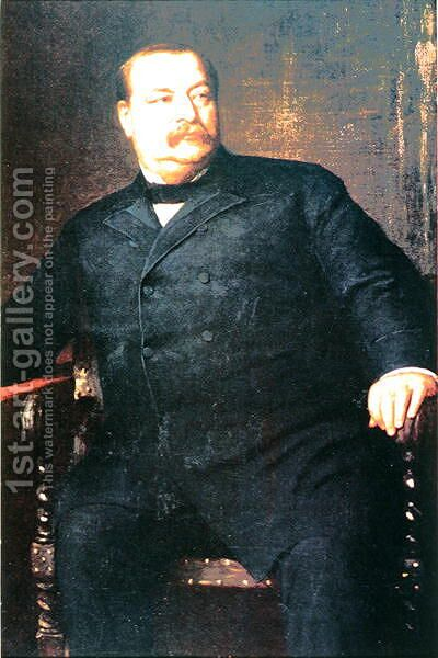 Grover Cleveland 1837-1908 by (after) Johnson, Eastman - Reproduction Oil Painting