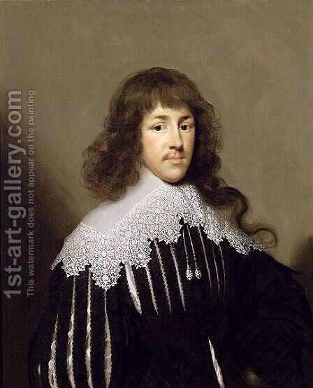 Sir Francis Godolphin by Cornelis I Johnson - Reproduction Oil Painting