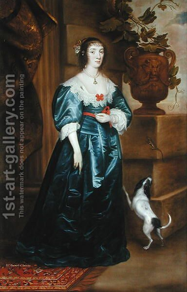 Lady Gerard of Bromley by Cornelis I Johnson - Reproduction Oil Painting