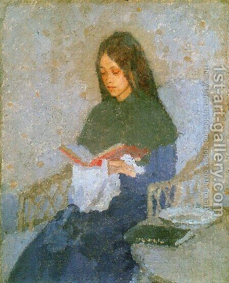 The Precious Book by Gwen John - Reproduction Oil Painting
