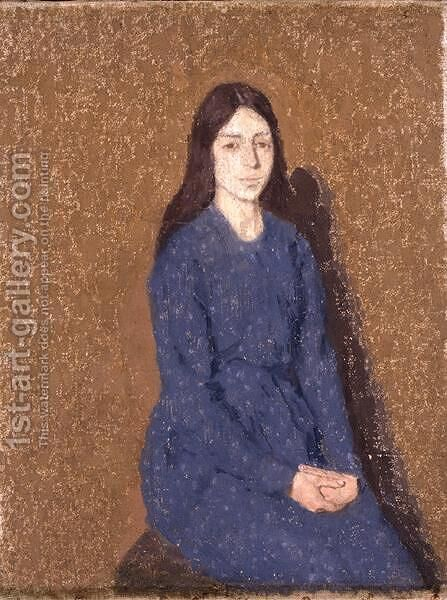 Girl in a Blue Dress by Gwen John - Reproduction Oil Painting