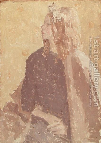 Girl in Profile by Gwen John - Reproduction Oil Painting