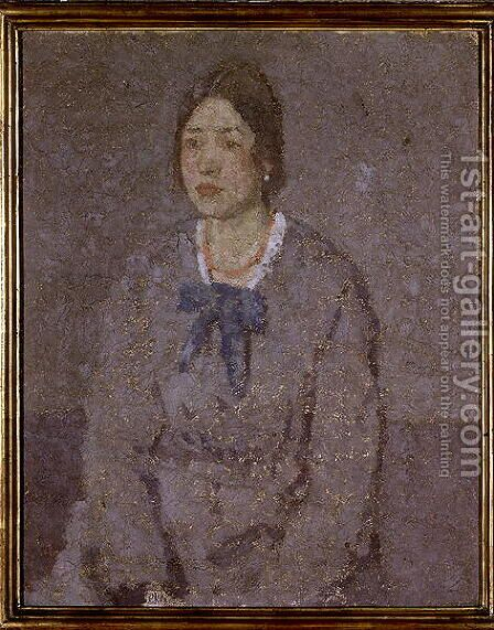 Woman in a Coral Necklace by Gwen John - Reproduction Oil Painting