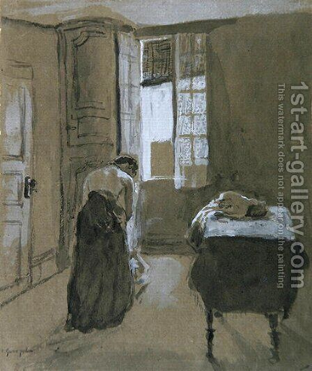 Woman Dressing by Gwen John - Reproduction Oil Painting