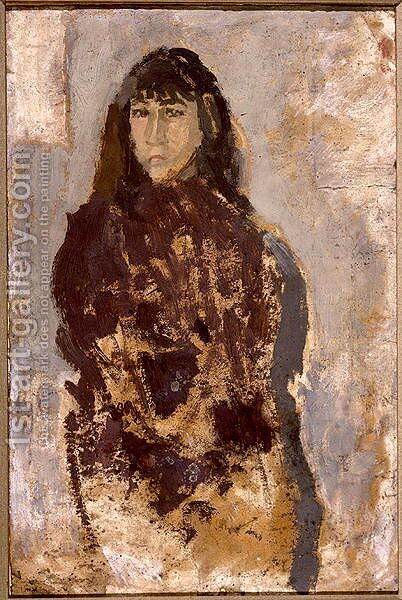 Study of a Young Woman in a Mulberry Dress by Gwen John - Reproduction Oil Painting