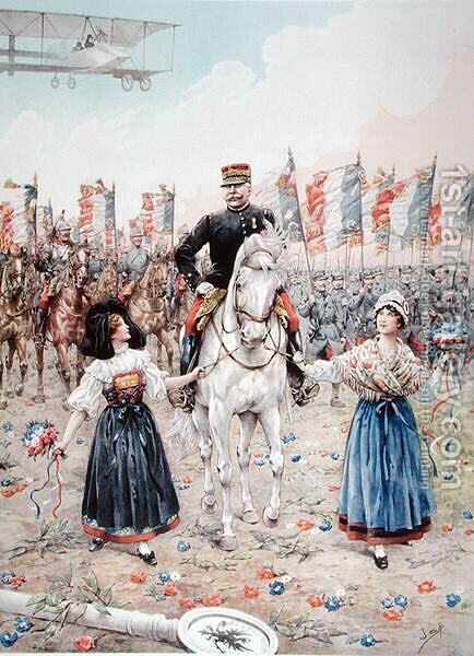 Marshal Ferdinand Foch 1851-1929 the Liberator by Jacques Onfray de Breville - Reproduction Oil Painting