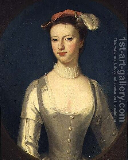 Portrait of Margaret Rolle later Countess of Orford by Charles Jervas - Reproduction Oil Painting
