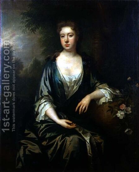 Portrait of a lady 2 by Charles Jervas - Reproduction Oil Painting