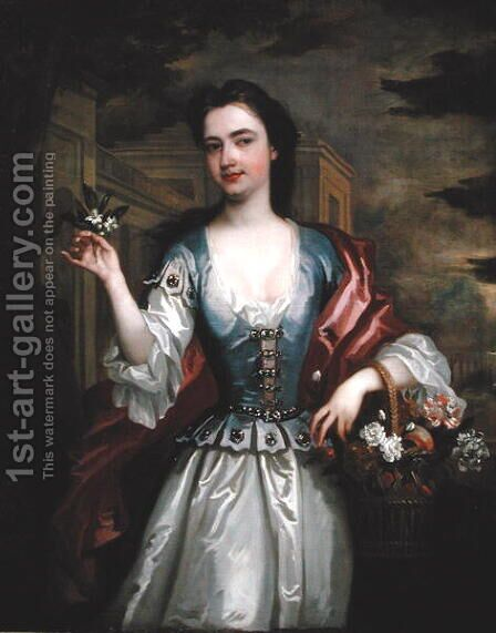 Portrait of Catherine Shorter Lady Walpole 1682-1737 by Charles Jervas - Reproduction Oil Painting