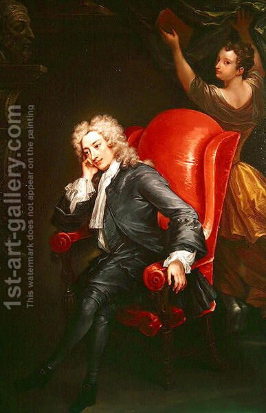 Portrait of Alexander Pope 1688-1744 by Charles Jervas - Reproduction Oil Painting