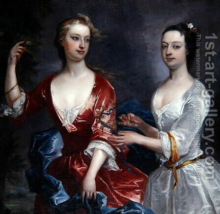 Martha and Teresa Blount by Charles Jervas - Reproduction Oil Painting