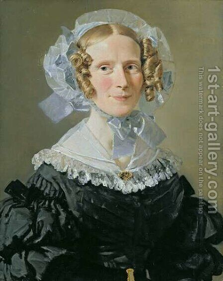 Emilie Kessel 1800-53 by Christian-Albrecht Jensen - Reproduction Oil Painting