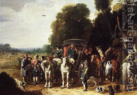 A Hunting Party by Govaert (Mynheer) Jansz - Reproduction Oil Painting