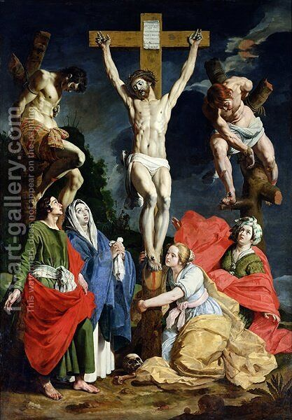 Calvary by Abraham Janssens van Nuyssen - Reproduction Oil Painting