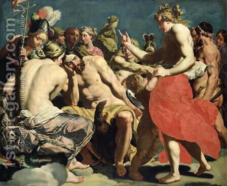 The Gods of Olympus by Abraham Janssens van Nuyssen - Reproduction Oil Painting