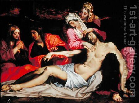 The Lamentation of Christ by Abraham Janssens van Nuyssen - Reproduction Oil Painting