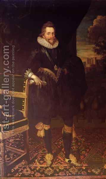 The Earl of Southampton by Cornelius Janssens van Ceulen - Reproduction Oil Painting