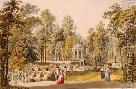 View of the Temple of Diana at Erlaw by (after) Janscha, Laurenz - Reproduction Oil Painting