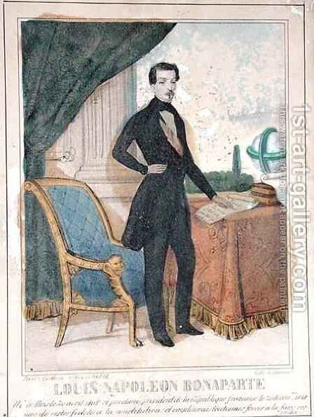 Louis Napoleon Bonaparte 1808-73 future Napoleon III by A. Jannin - Reproduction Oil Painting