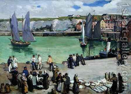 Dieppe Harbour by Alexander Jamieson - Reproduction Oil Painting