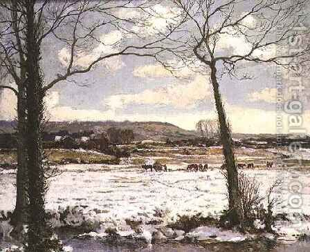 The Frozen Meadow by Alexander Jamieson - Reproduction Oil Painting