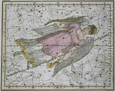 Virgo from A Celestial Atlas by A. Jamieson - Reproduction Oil Painting