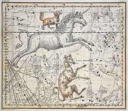 Monoceros from A Celestial Atlas by A. Jamieson - Reproduction Oil Painting