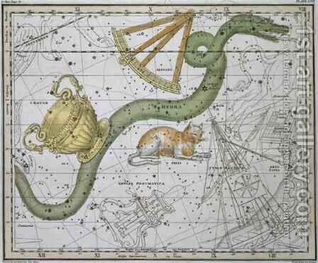 Hydra from A Celestial Atlas by A. Jamieson - Reproduction Oil Painting