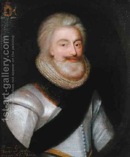 Thomas 1560-1640 1st Lord Fairfax by (attr. to) Jameson, George - Reproduction Oil Painting