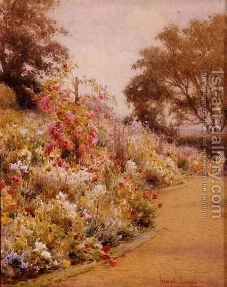 A Summer Border by Harry.E. James - Reproduction Oil Painting