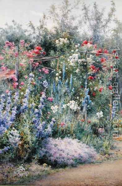 Corner of a Summer Garden by Harry.E. James - Reproduction Oil Painting