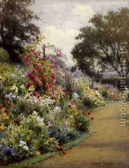 An Herbaceous Border by Harry.E. James - Reproduction Oil Painting