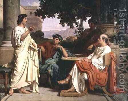 Horace Virgil and Varius at the house of Maecenas by Charles François Jalabert - Reproduction Oil Painting