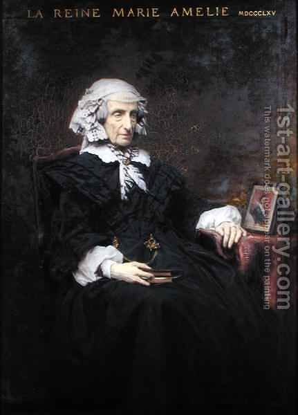 Marie Amelie de Bourbon 1782-1866 by Charles François Jalabert - Reproduction Oil Painting