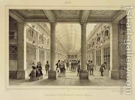 Galerie dOrleans at the Palais Royal by (after) Jacottet, Jean - Reproduction Oil Painting