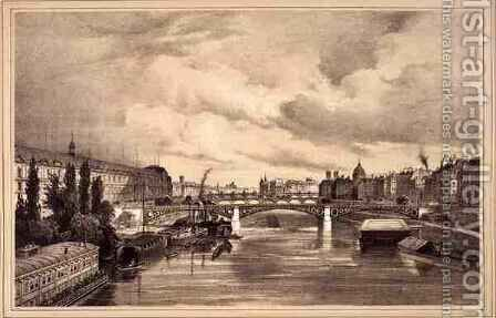 View of the Pont Royal by (after) Jacottet, Jean - Reproduction Oil Painting