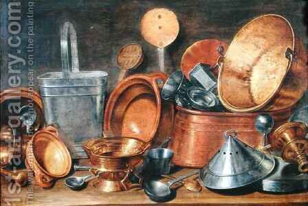 Still Life with Kitchen Utensils by Cornelis Jacobsz Delff - Reproduction Oil Painting