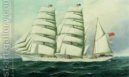 The East African in Full Sail by Antonio Jacobsen - Reproduction Oil Painting