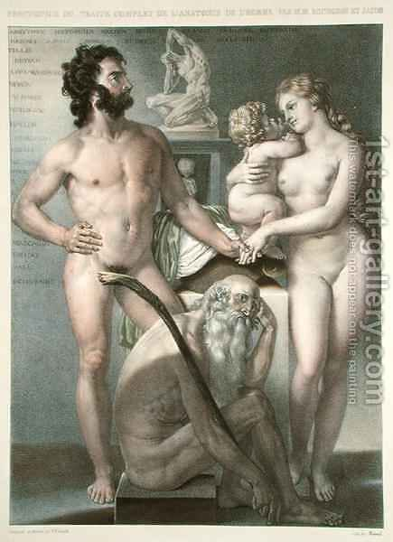 Frontispiece to Traite Complet de lAnatomie de lHomme by (after) Jacob, Nicolas Henri - Reproduction Oil Painting