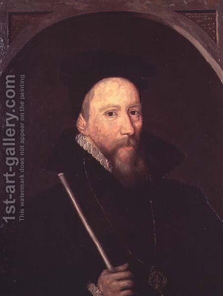 William Cecil Lord Burghley by (attr. to) Jackson, George - Reproduction Oil Painting