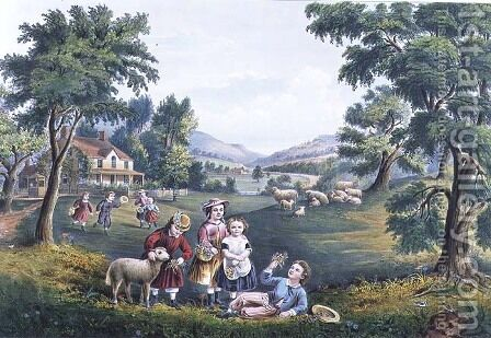 The Four Seasons of Life Childhood The Season of Joy by (after) Ives, J.M - Reproduction Oil Painting