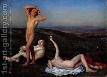 Three Naked Boys by Alexander Ivanov - Reproduction Oil Painting